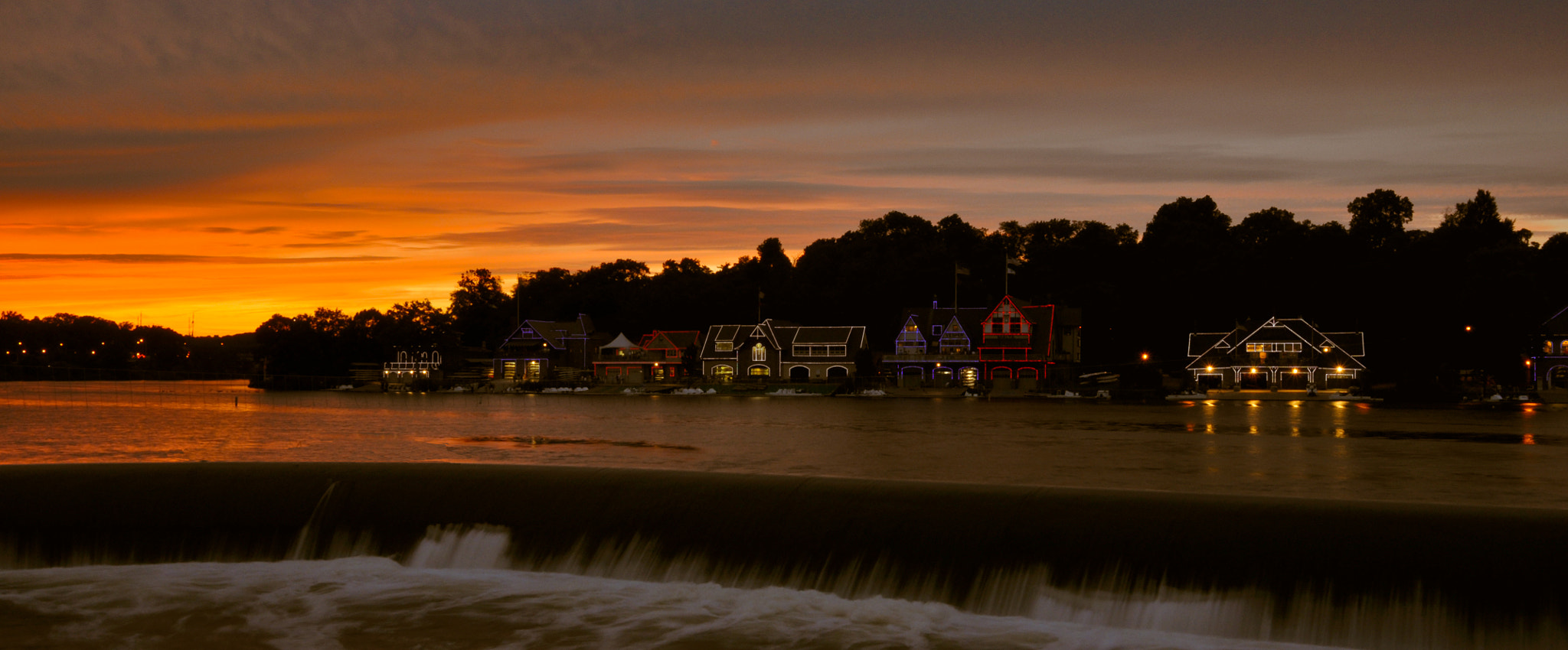 Photograph Sunset over Boat House row by Pankesh Contractor on 500px