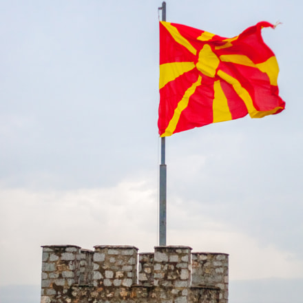 Flag of Macedonia on, Canon EOS 30D, Canon EF 50mm f/1.8