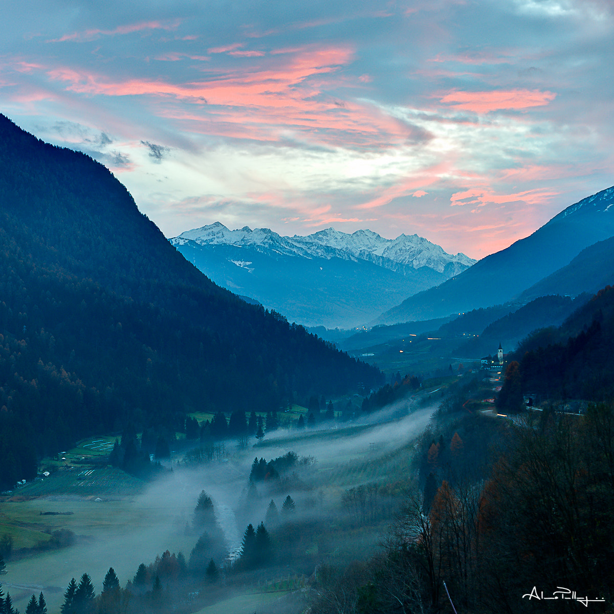 Photograph (3 Dislike in 1 hour.. very good!!!) The cold fog at the sunset by Alessio Pellegrini on 500px