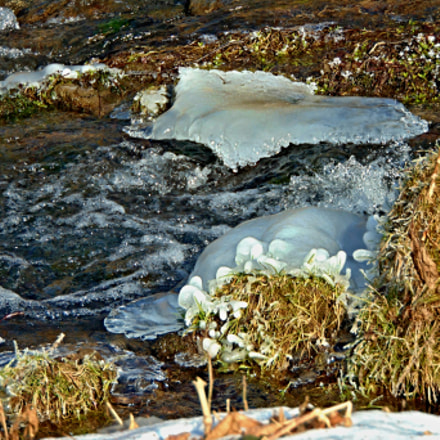 Ice on the river., Sony DSC-H300