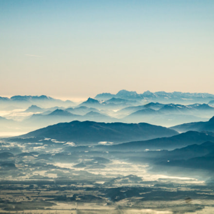 Alps in morning mist., Sony SLT-A57, Sony DT 16-105mm F3.5-5.6 (SAL16105)