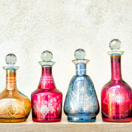 Beautiful glass bottles