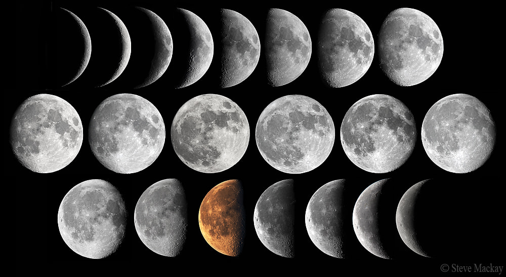 Photograph Moon Phase Composite Project by Steve Mackay on 500px