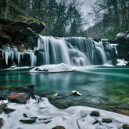 Winter Waterfall, Canon EOS 6D, Canon EF 24mm f/1.4L