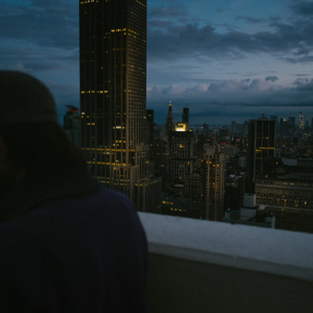 phill on a rooftop, Fujifilm X-E1, XF18mmF2 R