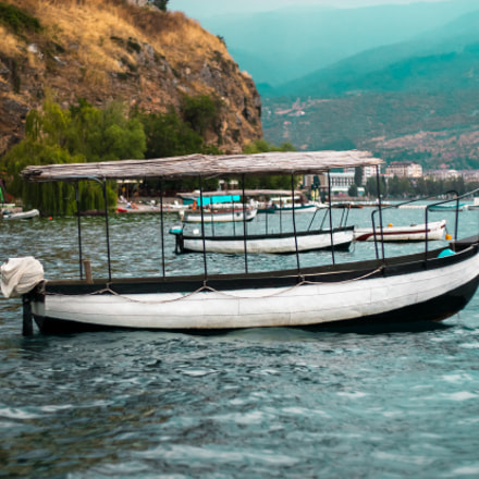 Boats in the Ohrid, Canon EOS 30D, Canon EF 50mm f/1.8