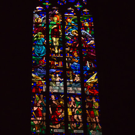 stained glass window, Sony SLT-A37, DT 18-55mm F3.5-5.6 SAM