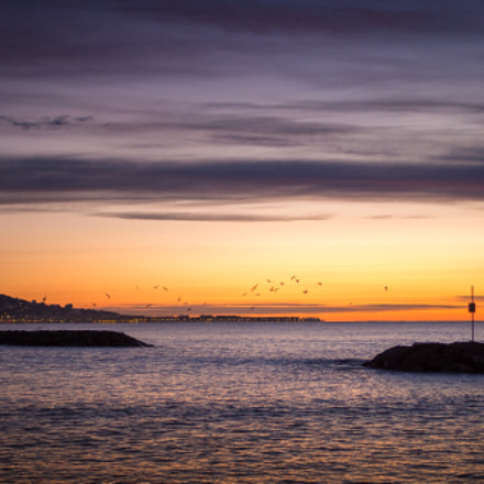 Cannes morning sunrise, Olympus E-M10MarkII, LUMIX G 25/F1.7