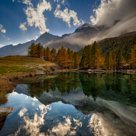 Blue lake by Caterina Bruzzone (CaterinaBruzzone)) on 500px.com