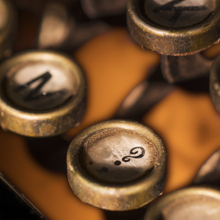 Vintage Typewriter Keys, Nikon D7100, PC-E Micro Nikkor 85mm f/2.8D