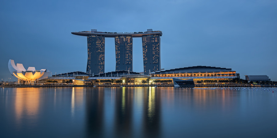 Photograph Blue MBS Hotel by Andy Sim on 500px
