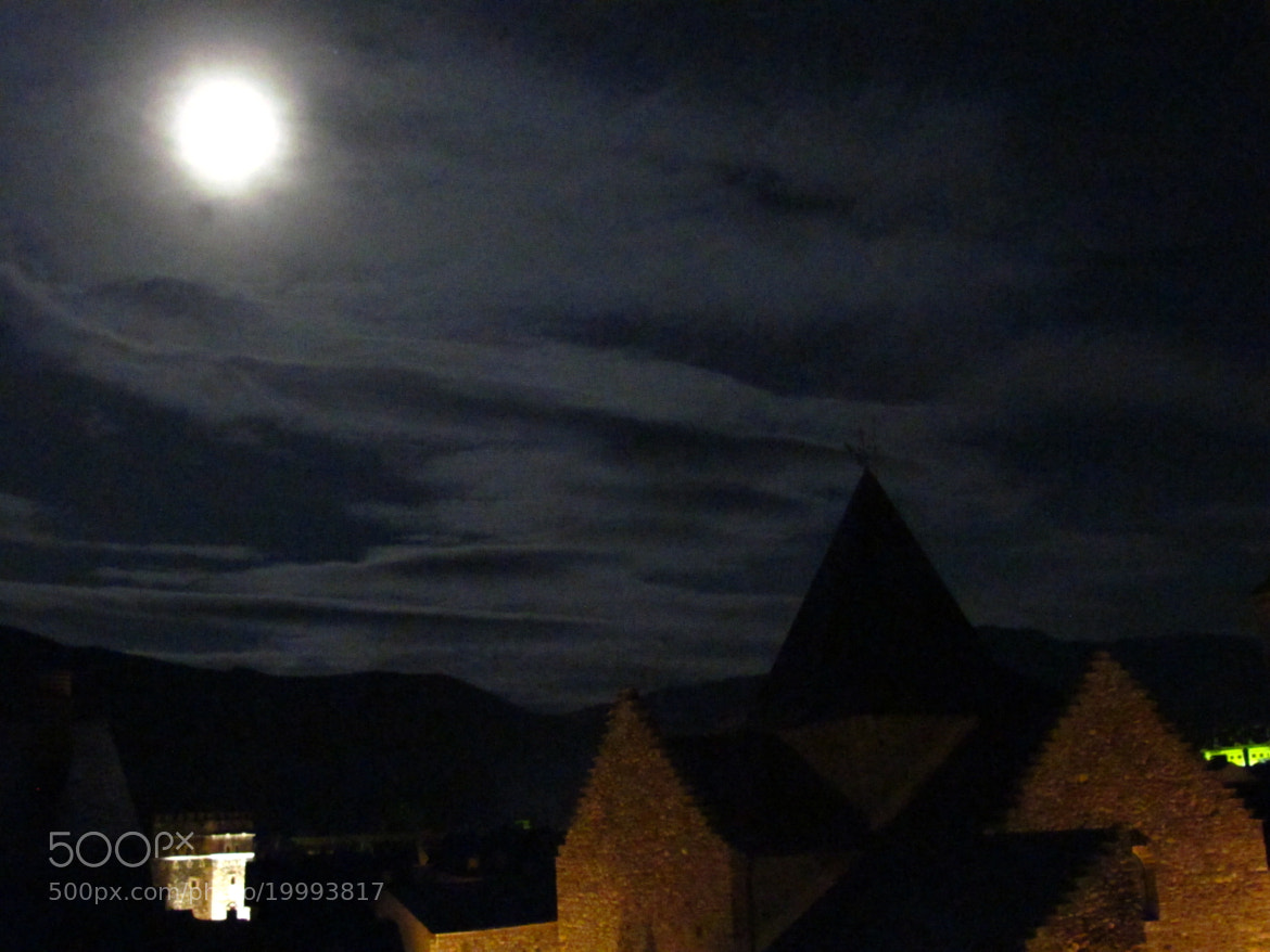 Photograph moon by tower close to church by Iván Sánchez on 500px