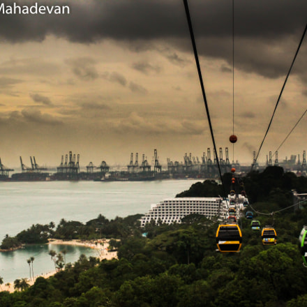 Cable Car at Sentosa, Canon EOS REBEL T3I, Canon EF-S 18-55mm f/3.5-5.6 IS II