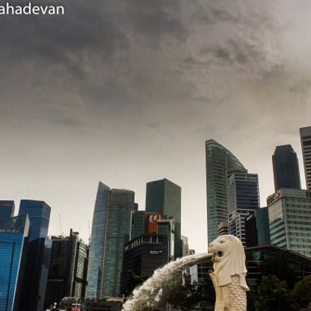 Singapore Skyline, Canon EOS REBEL T3I, Canon EF-S 18-55mm f/3.5-5.6 IS II