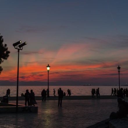 Sunset at seafront, Canon EOS 6D, Canon EF 40mm f/2.8 STM