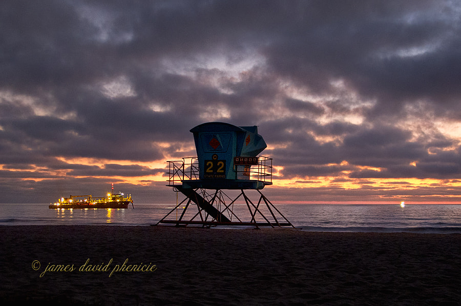Guard Tower Series:  #22 and Fishing Vessel