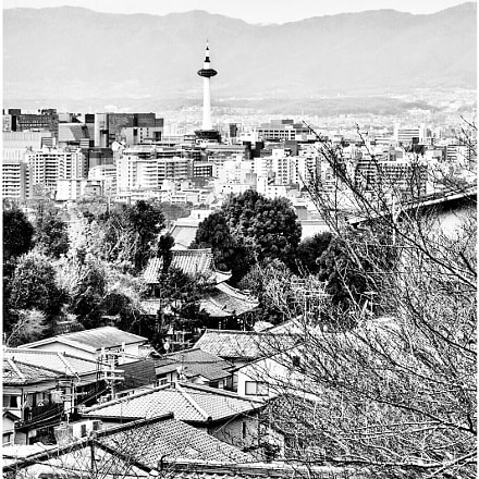 from kiyomizu temple overlooking, Canon EOS KISS X3, Canon EF-S 18-55mm f/3.5-5.6 IS
