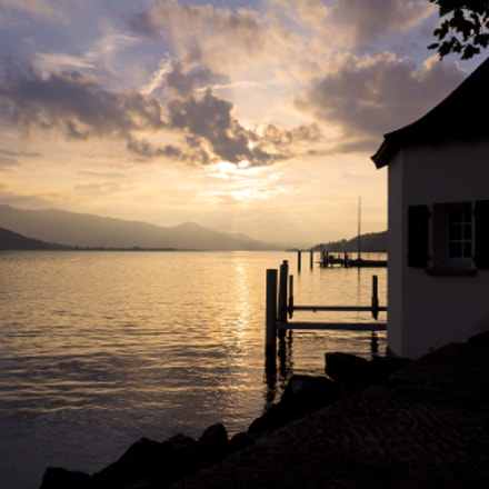 Sunset at the lake, Canon EOS 60D, Canon EF-S 18-200mm f/3.5-5.6 IS