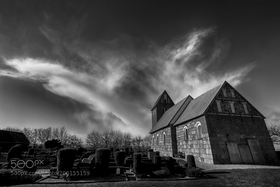 The cloud over the small church