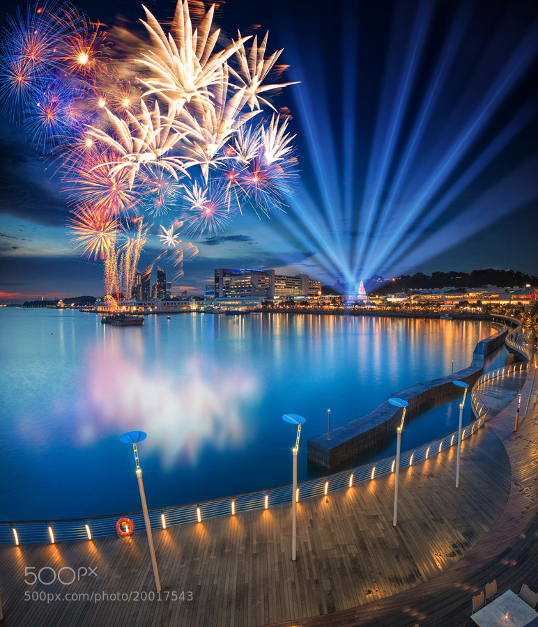 Photograph Vivocity 6th Anniversary Fireworks by Jonathan Danker on 500px