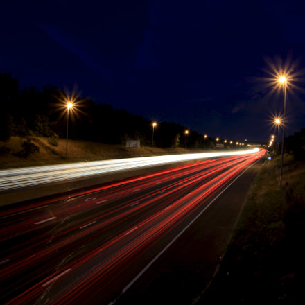 Light Trail at Manassas, Canon EOS 60D, Sigma 17-50mm f/2.8 OS HSM