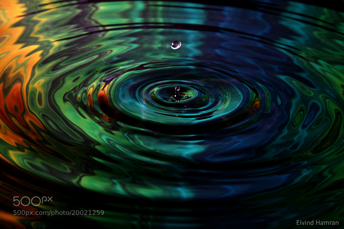 Photograph color waterdrop by Eivind Hamran on 500px
