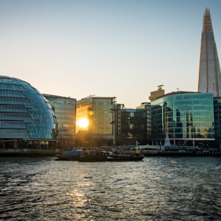 Sunset at Thames River, Canon EOS 70D, Canon EF-S 10-18mm f/4.5-5.6 IS STM