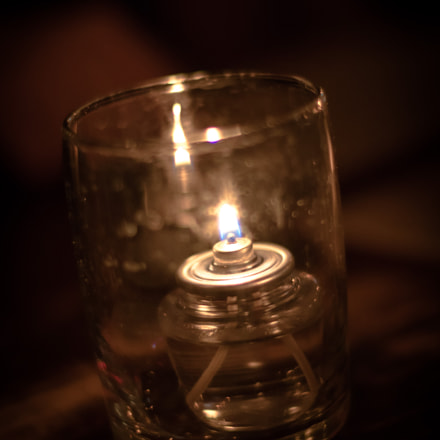 Candle in a Cup, Canon EOS 7D MARK II, Canon EF 50mm f/1.4 USM