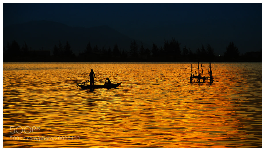 Photograph Sunset On The River by Vo Trieu Hai on 500px