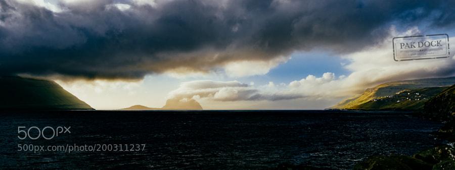Panoramic view of Velbastaður  - Faroe Islands