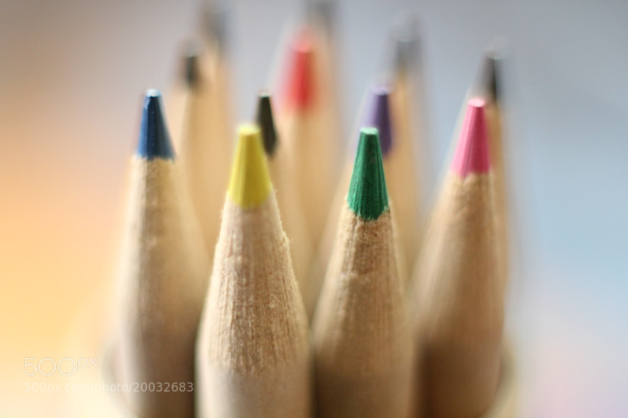 Macro Pencil Crayons by Andrew (smales)) on 500px.com