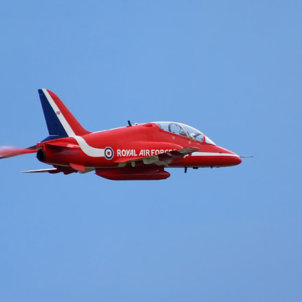 Red Arrows Hawk T1, Nikon D60, AF-S VR Zoom-Nikkor 70-300mm f/4.5-5.6G IF-ED