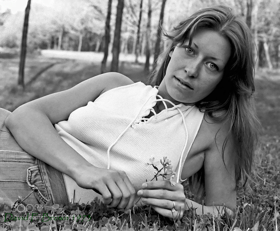 In the 1970's, my favorite model was my fiancee.  Thirty-eight years later, she is still my favorite model.  Anyway, this was exposed on Kodak PAN-X, developed and printed in my dorm room.  It's one of my favorite shots and I hope it's one of yours too.