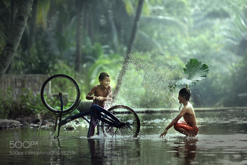 Photograph washing bike by JD Ardiansyah on 500px