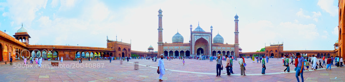 Photograph Jama Masjid- A Panorama by Dipendranath Basu on 500px