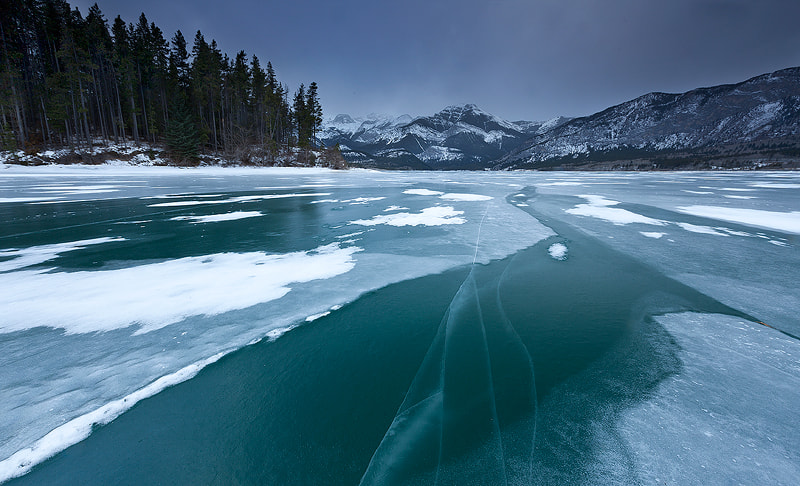 Photograph Ice Up On Barrier Lake by Hong Zeng on 500px