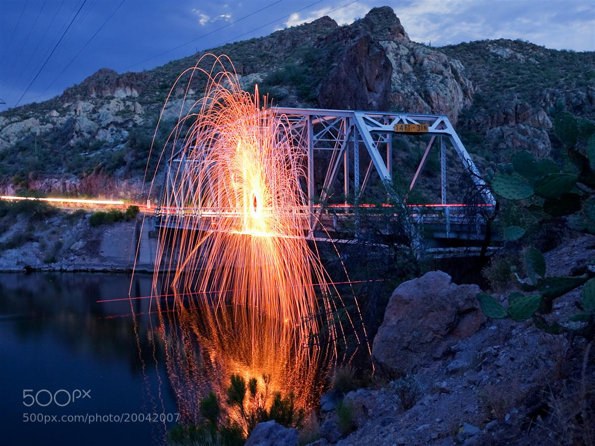Photograph Bridge Sparks by Norm Cooper on 500px