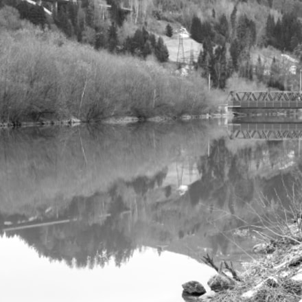 2 bridges in reflection 1, Canon EOS 600D, Tamron AF 17-50mm f/2.8 Di-II LD Aspherical