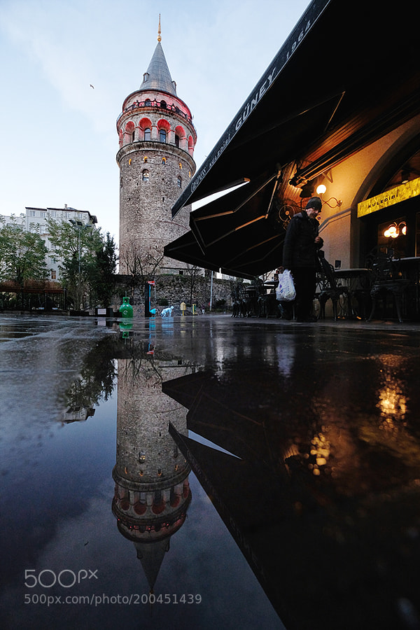 Reflection of the Galata Tower