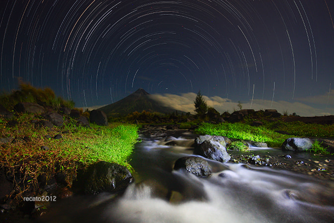 Photograph Mt. Mayon with the Stars by Raymond Recato on 500px