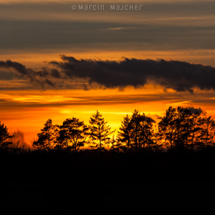 Sunset in Mazury, Canon EOS-1D MARK II N, Canon EF 70-200mm f/4L