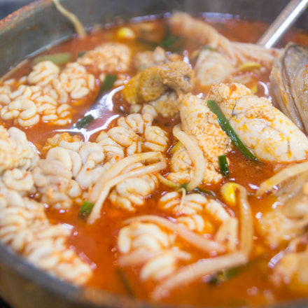 Spicy Fish Intestine Soup., Canon EOS 100D, Tamron AF 17-50mm f/2.8 Di-II LD Aspherical