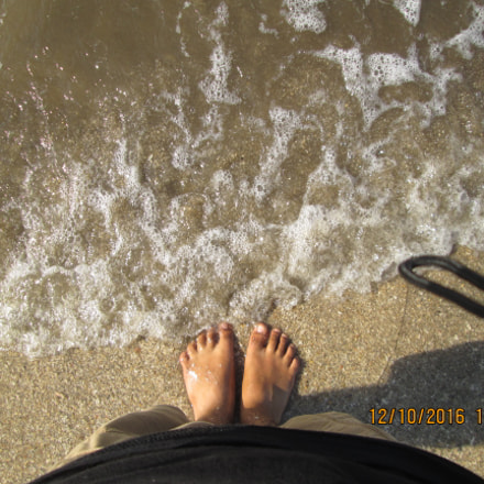 Beach Water, Canon POWERSHOT A2400 IS
