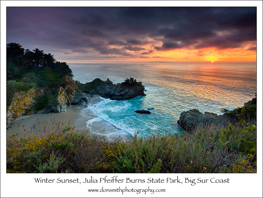 Photograph Winter Sunset, Big Sur Coast by Don Smith on 500px