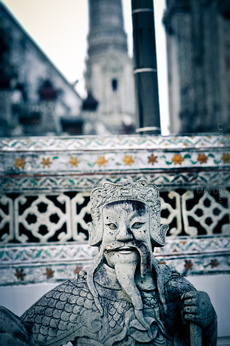 Photograph The Guardian  at Wat Arun Temple - Bangkok by Mayur Channagere on 500px