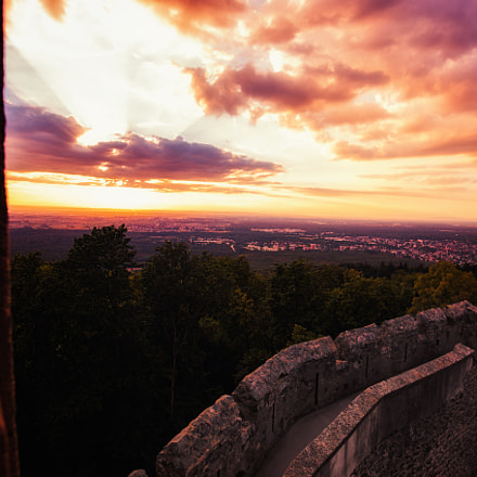Sunset at the Castle