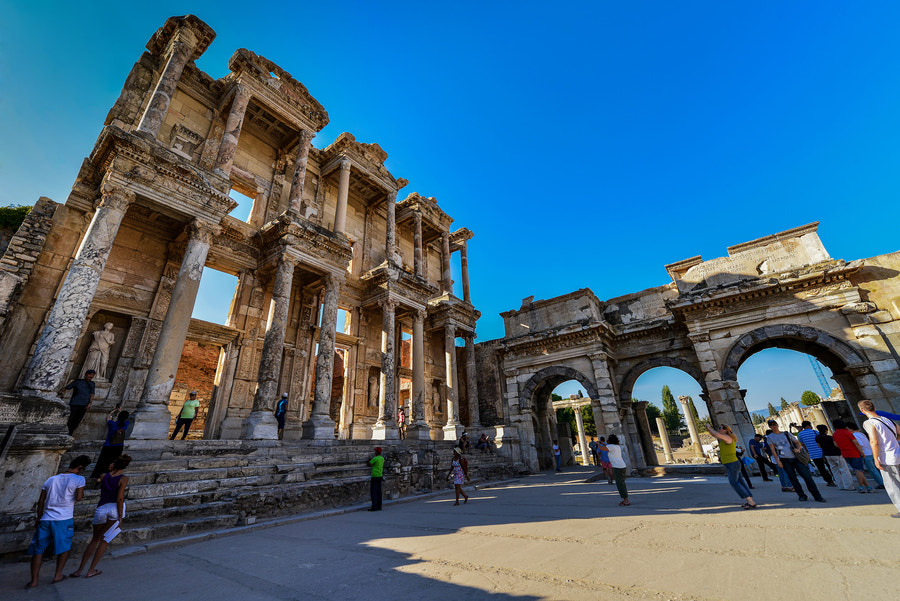 Photograph Library of Celsus and the Gate of Augustus. by Jason Matthew Tye on 500px