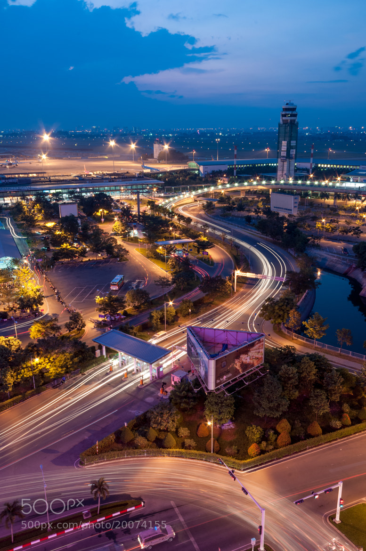 Photograph Tân Sơn Nhất airport by night by Luan Nguyen on 500px