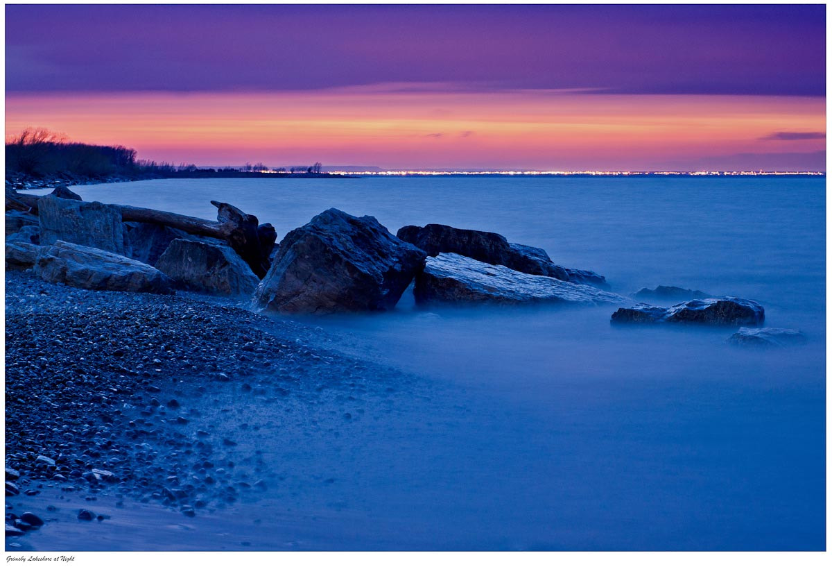 Photograph Grimsby Lakeshore at Night. by Ort Baldauf on 500px