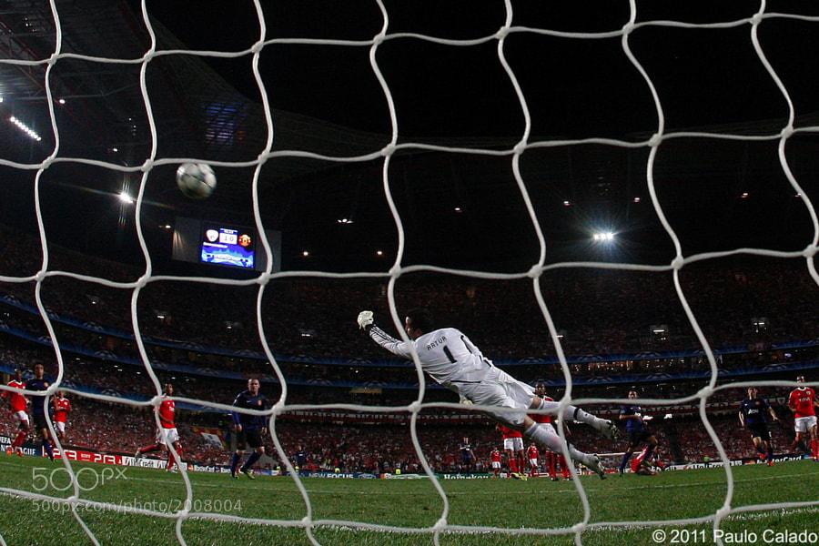 Golo de Giggs, Benfica vs Manchester United, Liga Campeoes, 14 de Setembro de 2011, Estadio da Luz, Lisboa, Foto Paulo Calado
